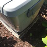 Standby generator concrete pad too small