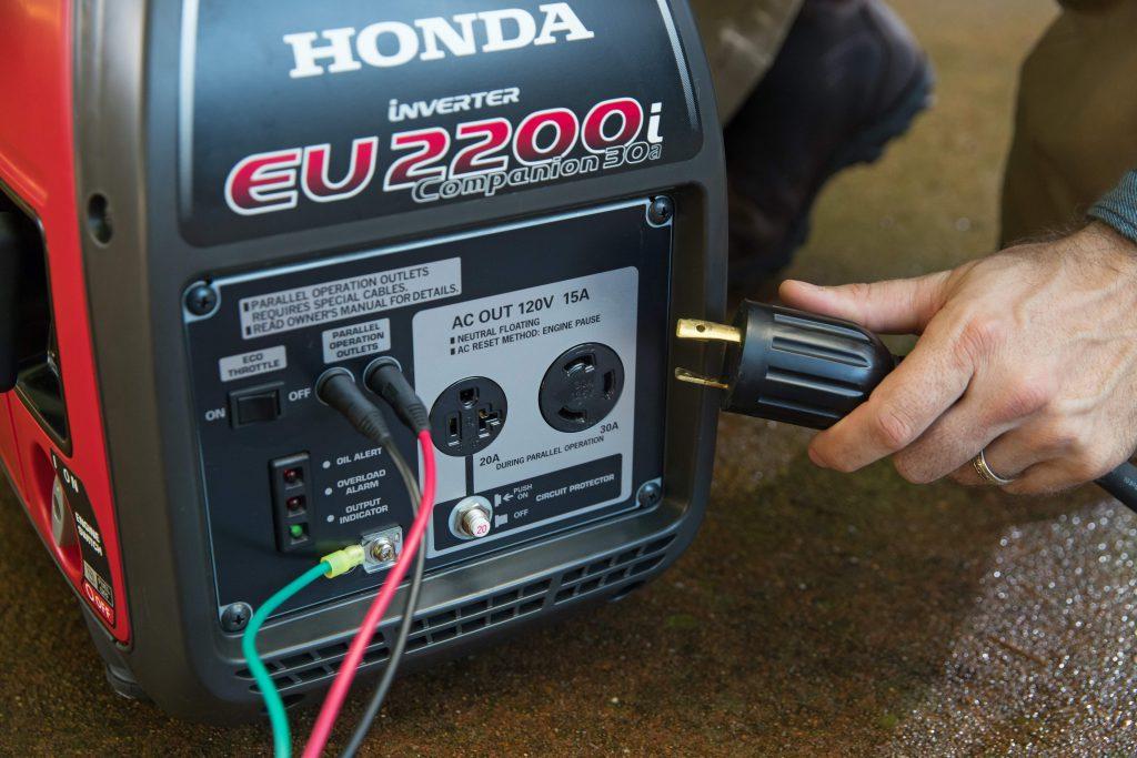 Tropical Generator Honda Portable Generator Powering a Home
