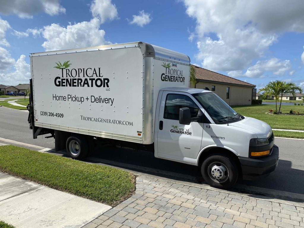 Tropical Generator Delivery of Portable Generators to Naples, Fort Myers, Estero, Bonita Springs, Port Charlotte
