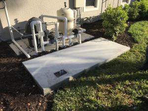 Generator pad for Cummins 40kW in Naples, FL.